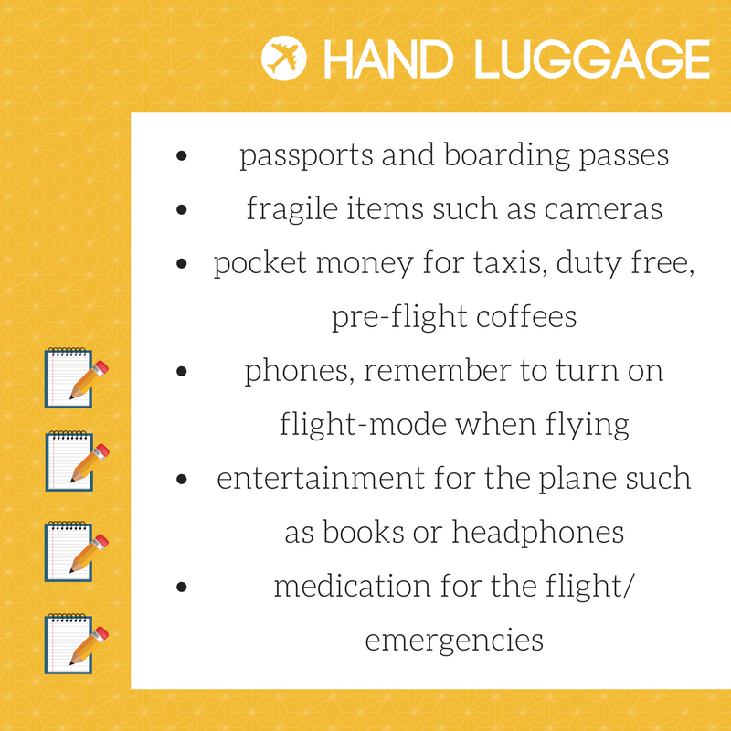What to pack in your hand luggage at Bristol Airport