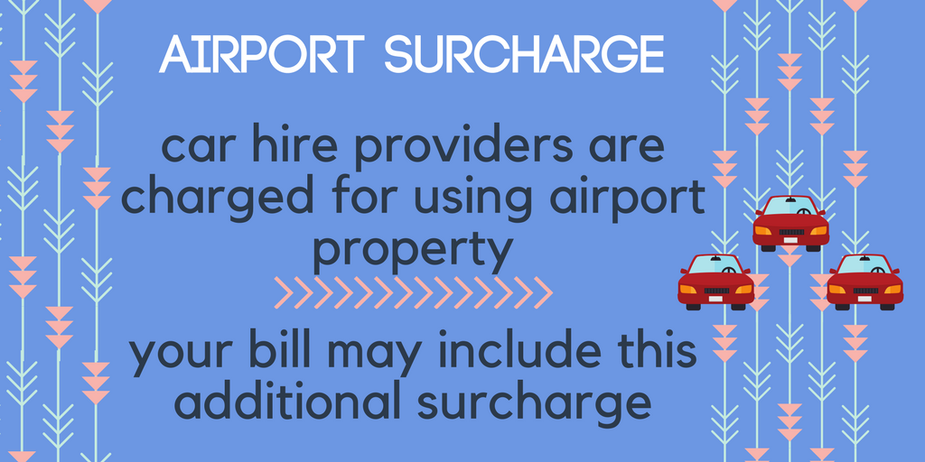 Car Hire price may include an airport surcharge