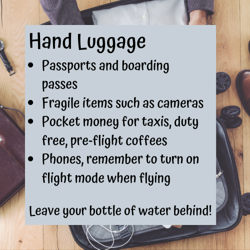 planning your trip hand luggage